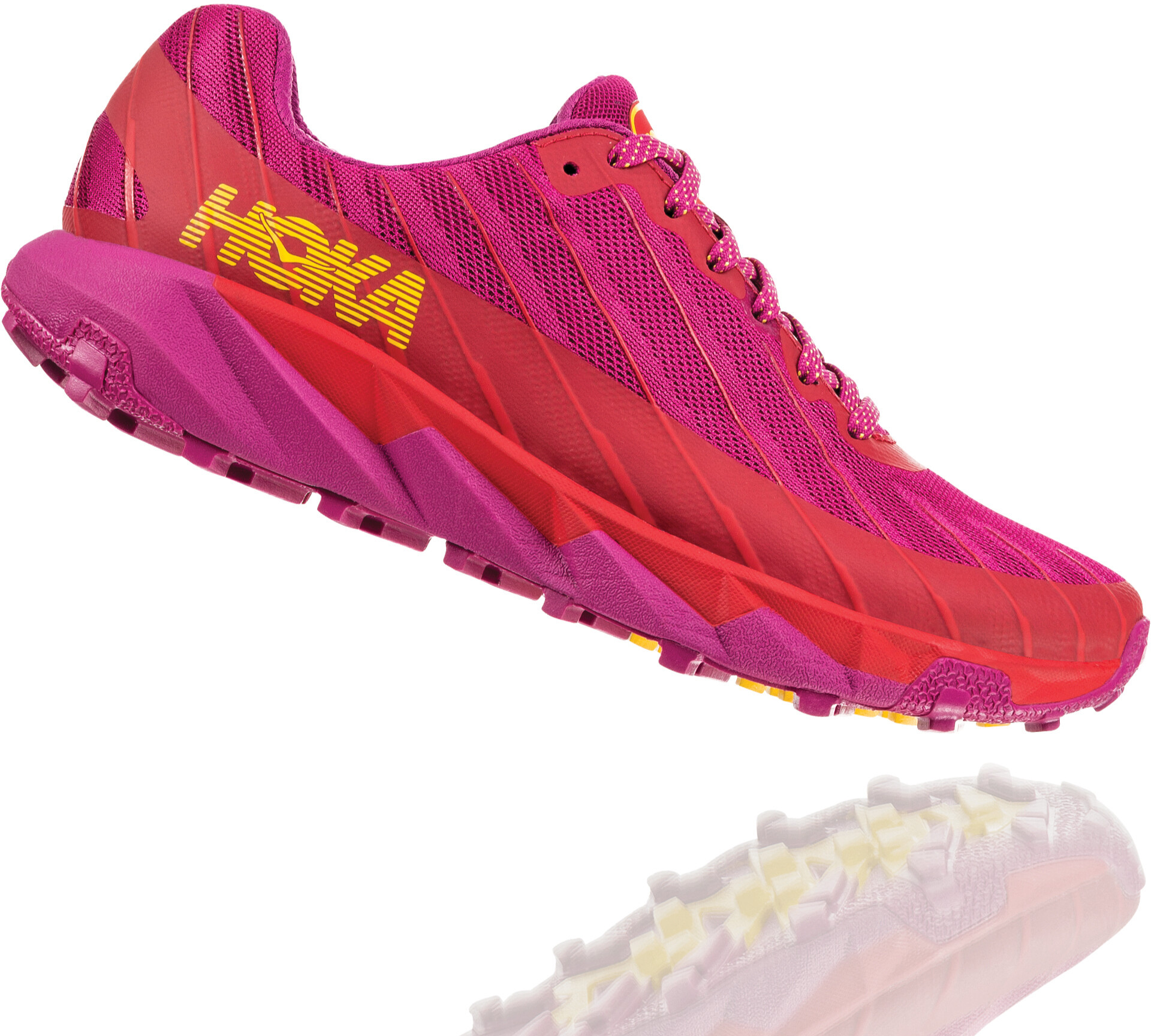 Hoka One One Torrent Running Shoes Dam cactus flowerpoppy red